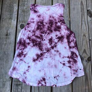 AEO SOFT and SEXY burgundy tie dye tank top